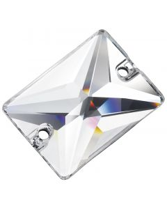 Preciosa Rectangle 18 x 13 mm, Crystal