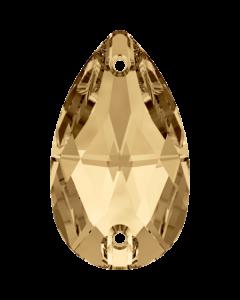 Swarovski 3230 Drop, Crystal Golden Shadow