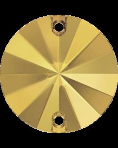 Swarovski 3200 Rivoli, Crystal Metallic Sunshine, 14 mm