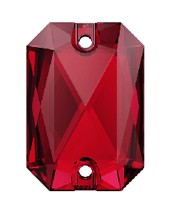 Swarovski 3252 Emerald Cut 20 x 14 mm, Scarlet