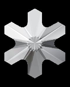 Swarovski 2826 Rivoli Snowflake, Crystal, 5 mm, 10 stk.