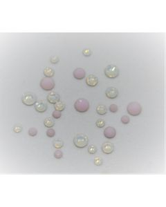 Swarovski-mix, Soft Opal, 200 stk.