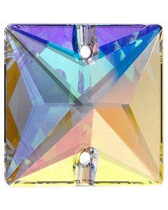 Preciosa Square 16 mm, Crystal AB
