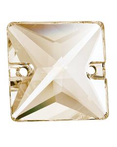 Preciosa Square 16 mm, Crystal Honey