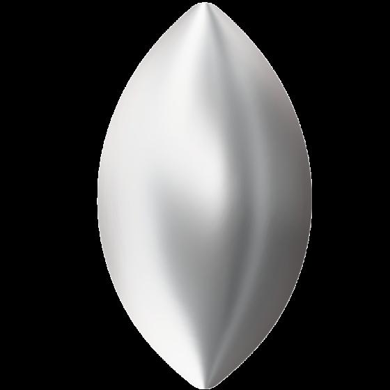 Swarovski 2208/4 Cabochon Navette, Crystal Nacre HF, 6 x 3,5 mm.