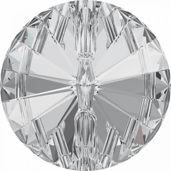 Swarovski 3015 Rivoli Crystal Button, 14 mm, Crystal
