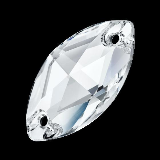 Preciosa Navette 18 x 9 mm, Crystal