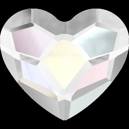 Swarovski 2808 Heart, Crystal AB, 3,6 mm, 10 stk.